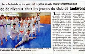 Presse local - Passage de grade club de Seynod